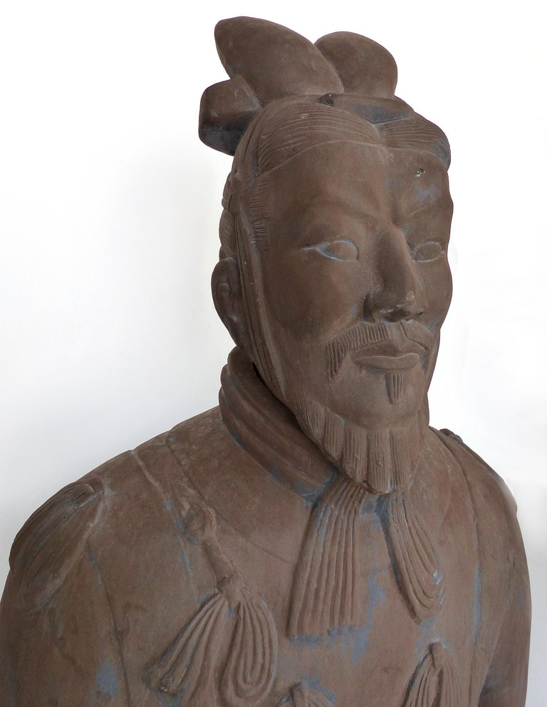 Contemporary Life-Size Chinese Terracotta Army Warriors For Sale 3