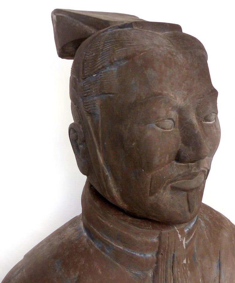 Contemporary Life-Size Chinese Terracotta Army Warriors For Sale 5