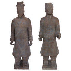 Contemporary Life-Size Chinese Terracotta Army Warriors
