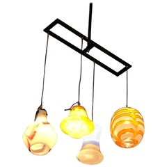 Contemporary Lighting Installation with Vintage Murano Glasses