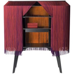 Contemporary Limited Edition French Sideboard Covered with Silk Fringes