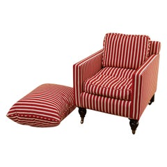 Contemporary Lounge Chair and Extra Large Cushion
