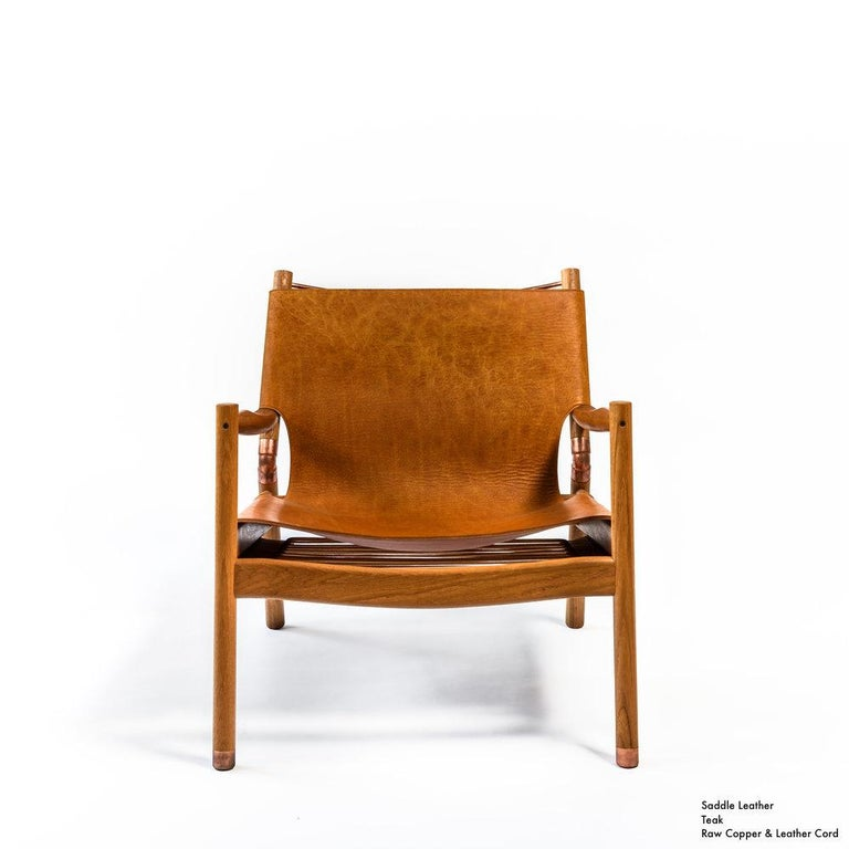 Not So General Gallery in Los Angeles is proud to present the EÆ Lounge Chair by Brooklyn-based Erickson Aesthetics in cerused oak, nude saddle leather and raw copper.  Handcrafted by Brooklyn-based design practice Erickson Aesthetics, the EÆ