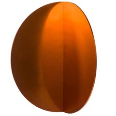 Contemporary Lunar Wall Mirror in Aluminium