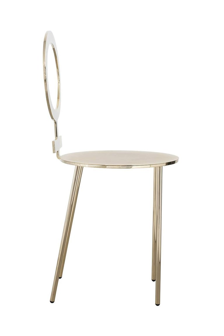 Italian Contemporary m2kr Me Chair in Galavanized Steel with  Velvet Cushion, 2018 For Sale