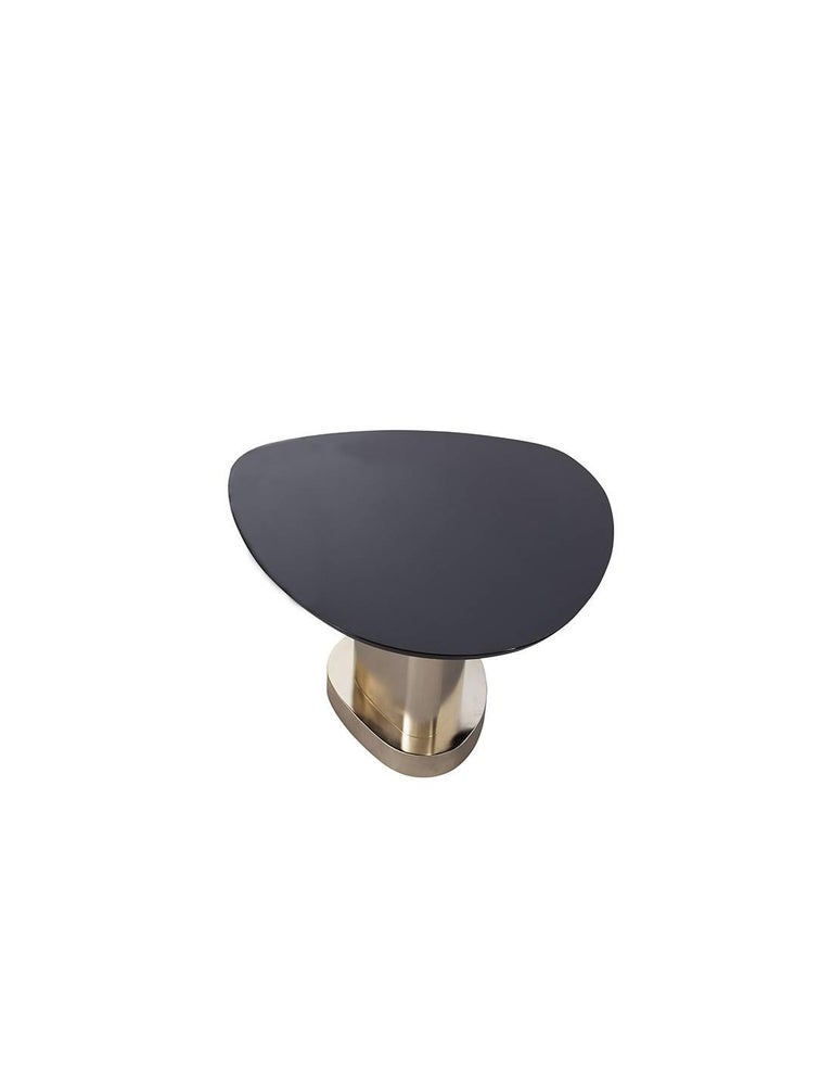 Modern Contemporary m2kr Twin 2 Low Table in Wood and Steel Galvanized with Gold, 2017 For Sale