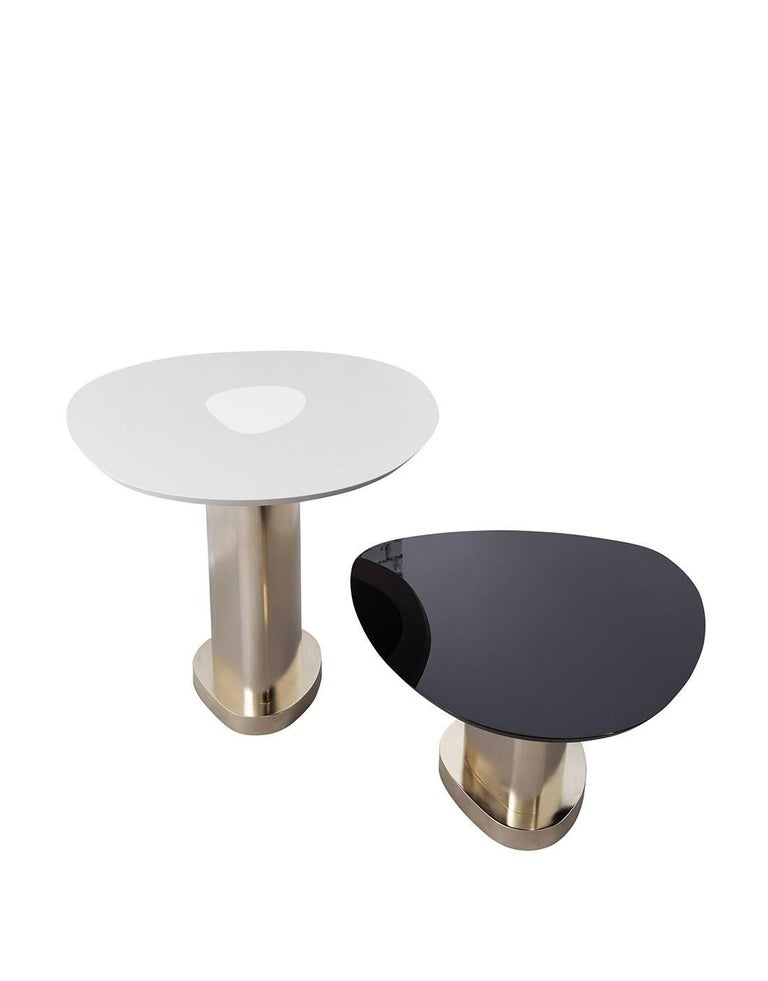 Modern Contemporary m2kr Twins Table Set in Wood and Galvanized Steel, Italy, 2017 For Sale