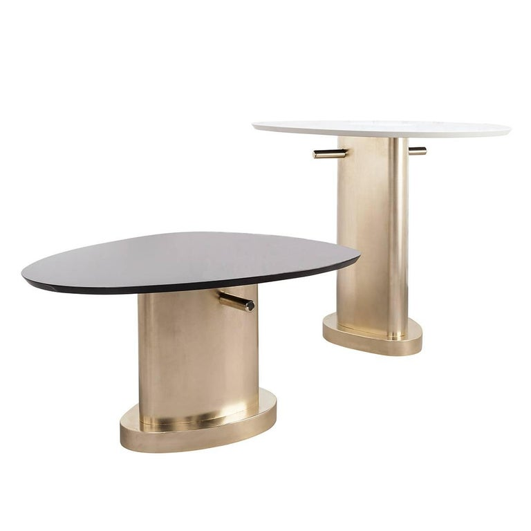 Italian Contemporary m2kr Twins Table Set in Wood and Galvanized Steel, Italy, 2017 For Sale