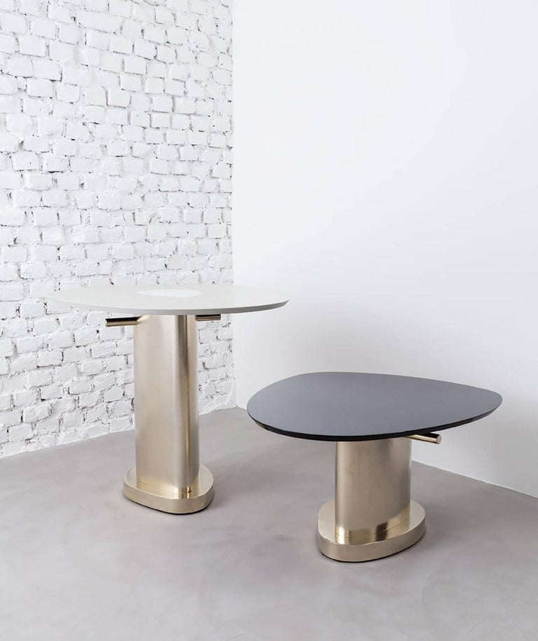 Contemporary m2kr Twins Table Set in Wood and Galvanized Steel, Italy, 2017 For Sale 1