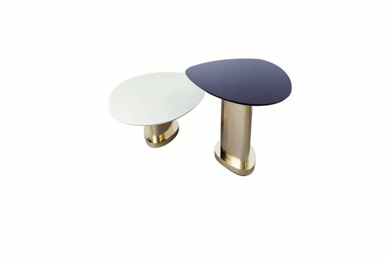 Contemporary m2kr Twins Table Set in Wood and Galvanized Steel, Italy, 2017 For Sale 2