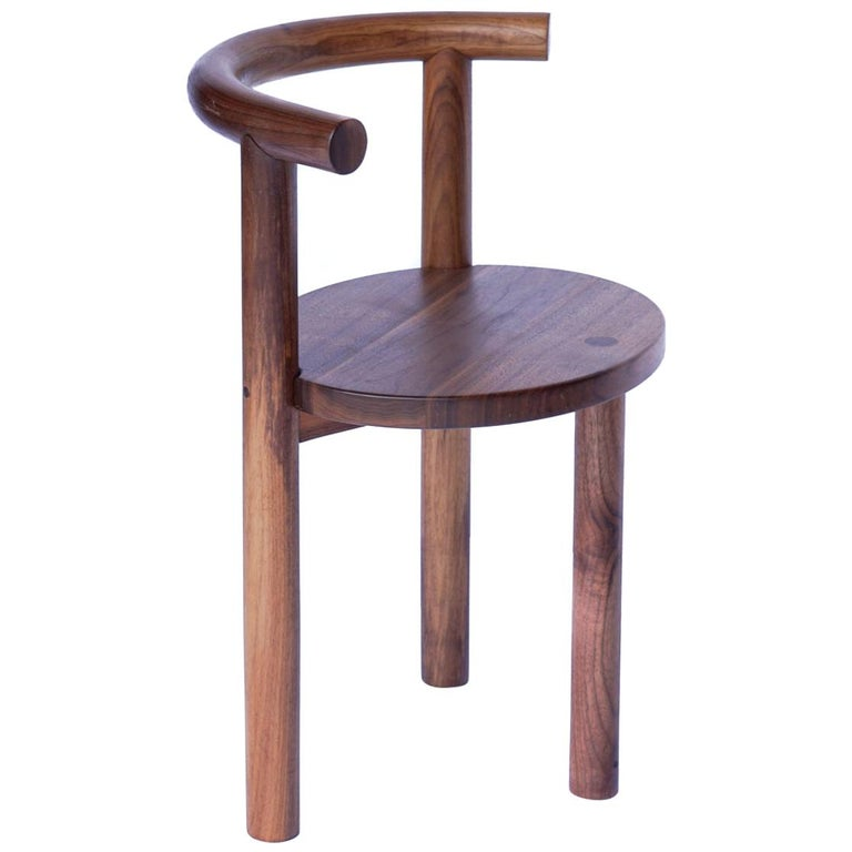 Contemporary Macaroni Steam Bent Walnut Chair by Ordinal Indicator For Sale