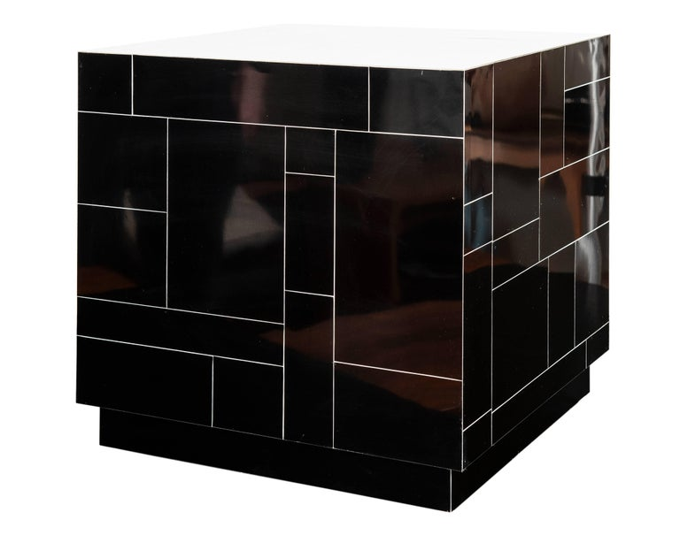 Canadian Contemporary Made End Tables/Cubes in the Manner of Paul Evans For Sale
