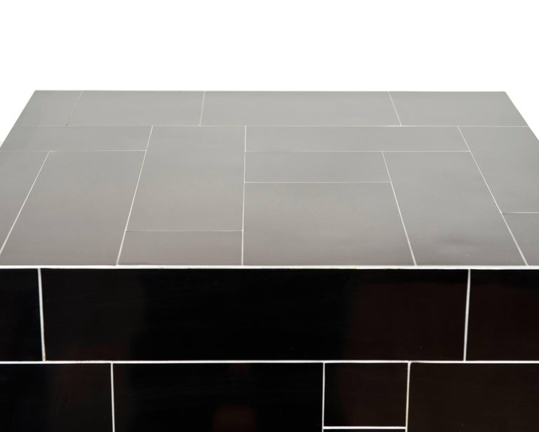 Hand-Crafted Contemporary Made End Tables/Cubes in the Manner of Paul Evans For Sale