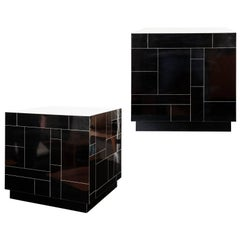 Contemporary Made End Tables/Cubes in the Manner of Paul Evans