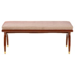 Contemporary Mahogany Bench in the Manner of Bertha Schaefer, circa 1950