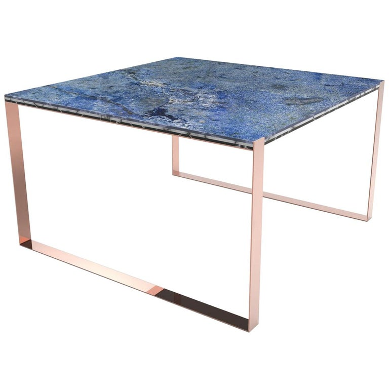 Contemporary Marbellous Modular Dining Table in Marble with Metal Base For Sale
