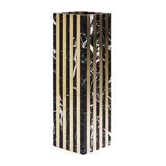 Contemporary Marble and Solid Brass Dynasty Vase Quattro Thin by Greg Natale
