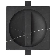 Contemporary Marble Bowl, Black Kinitra Marble, Handmade in Italy