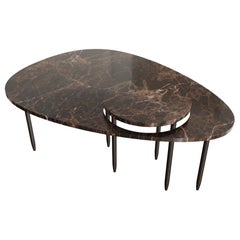 Contemporary Marble Center Table, by Chapter-101