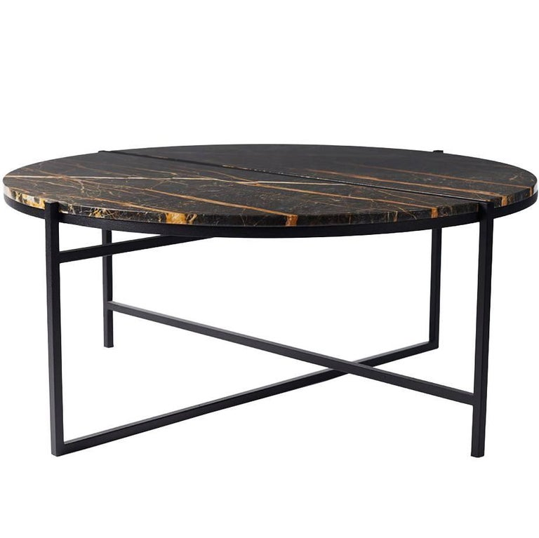 Round green tulip coffee table for sale at 1stdibs for Round contemporary coffee table