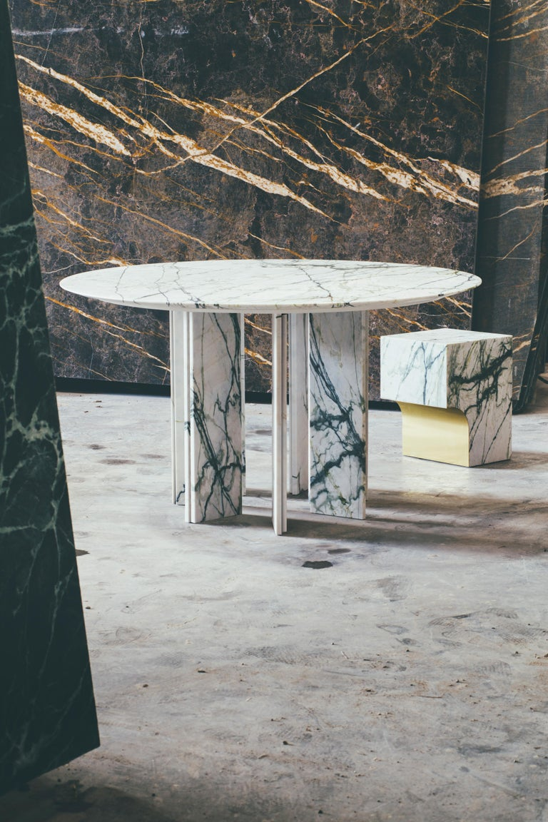 Other Contemporary Marble Dining Table, Ellipse 01.6 c by Barh For Sale
