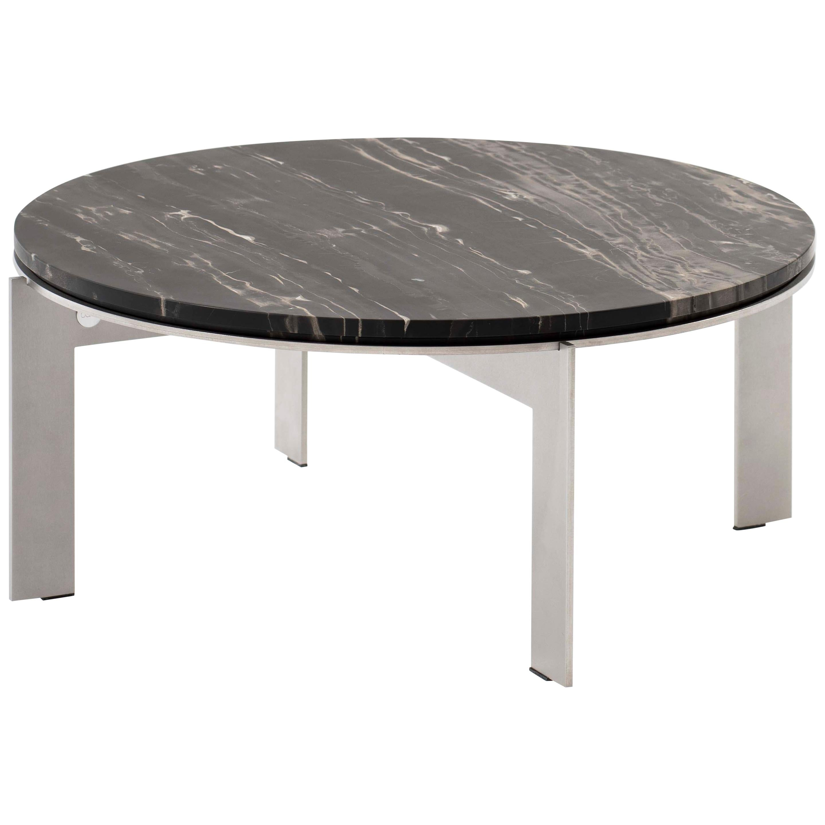 Contemporary Marble Side Table, Joined RO24.4 by Barh