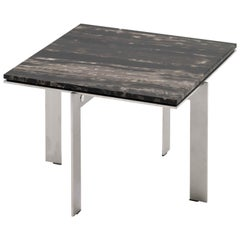 Contemporary Marble Side Table, Joined S34.4 by Barh