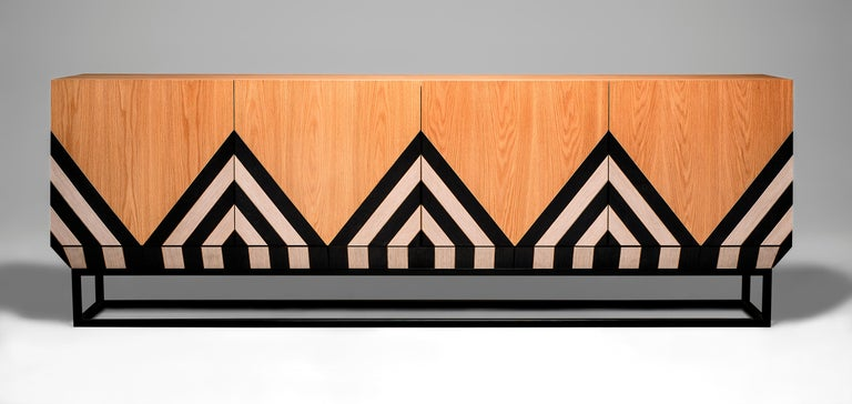 Sideboard designed by Larissa Batista  Rustic and sophisticated, Martin Sideboard was created by the international designer Larissa Batista showing all Brazil´s aspect with its texture and shape. Every datail is marked by its wood texture handmade