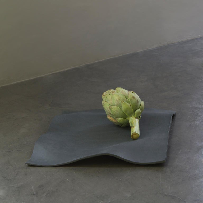 Other Contemporary Decorative Object, Matte Porcelain, Handmade Black Paper, in Stock For Sale