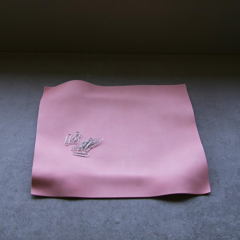 Other Contemporary Decorative Object, Matte Porcelain, Handmade Pink Paper, in Stock For Sale