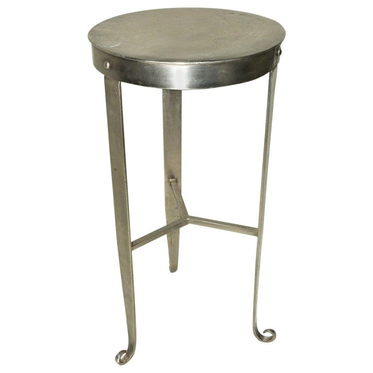 Contemporary Metal Side Table/Plant Stand For Sale