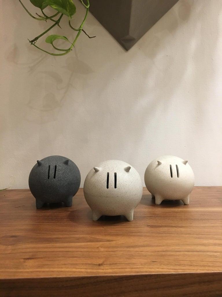 Organic Modern Contemporary Mexican Design Concrete Piggy Bank For Sale