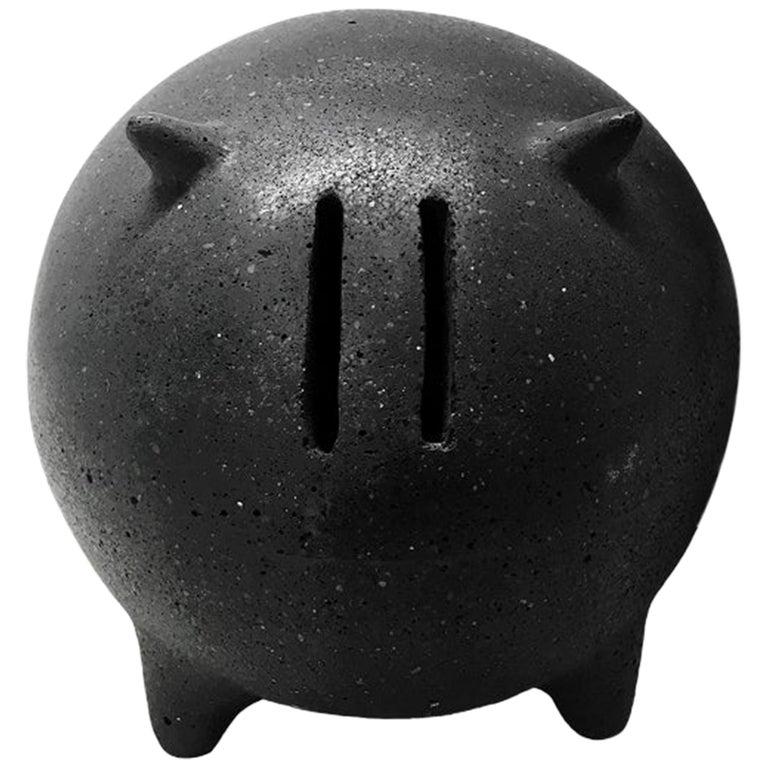 Contemporary Mexican Design Concrete Piggy Bank For Sale
