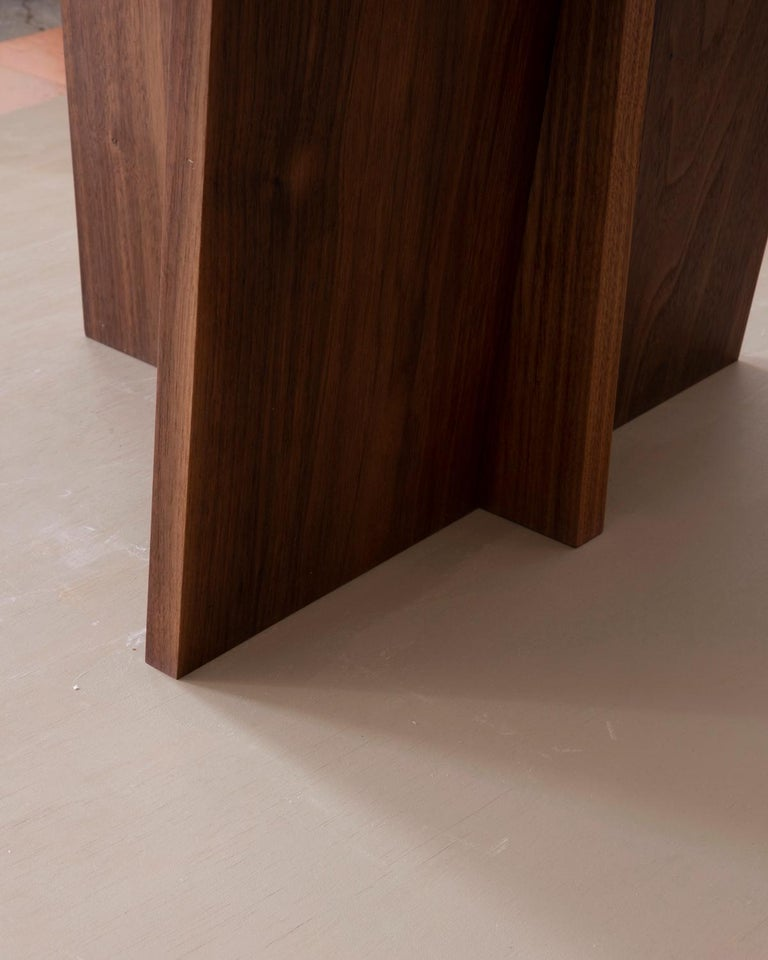 Contemporary Minimal Geometric Walnut Side Chair by Campagna In New Condition For Sale In Portland, OR