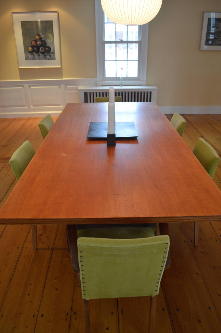 Contemporary Minimalist Blackened Steel and Birch Dining Table by Scott Gordon For Sale 3