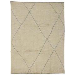 Contemporary Minimalist Moroccan Style Area Rug