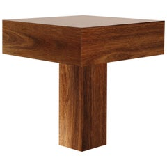"Contemporary Minimalist Side Table ""Tee"" Made of Brazilian Wood"