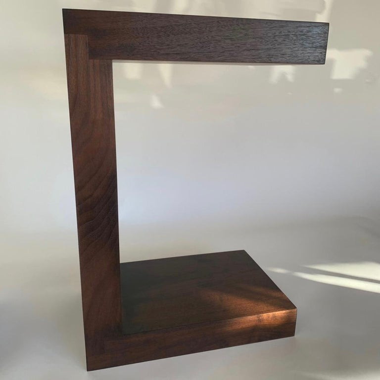 American Contemporary Minimalist Walnut Side Table or Bench by Scott Gordon For Sale