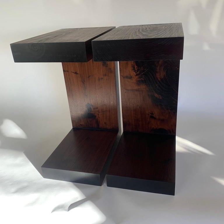 Contemporary Minimalist Walnut Side Table or Bench by Scott Gordon For Sale 1