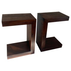 Contemporary Minimalist Walnut Side Table or Bench by Scott Gordon