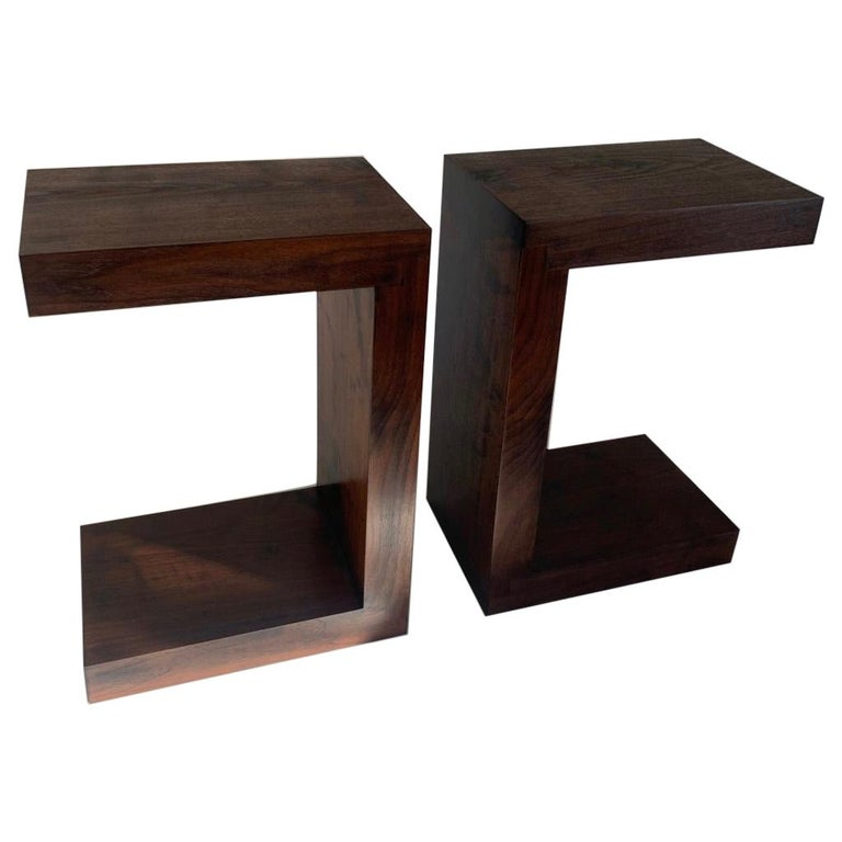 Contemporary Minimalist Walnut Side Table or Bench by Scott Gordon For Sale
