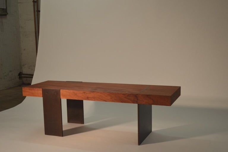 The Jackson bench, an original design offered exclusively by Vermontica, is a contemporary Minimalist bench designed and produced in Vermont by Scott Gordon. A popular piece for any Vermont mudroom, the Jackson Bench is comprised of a wood seat