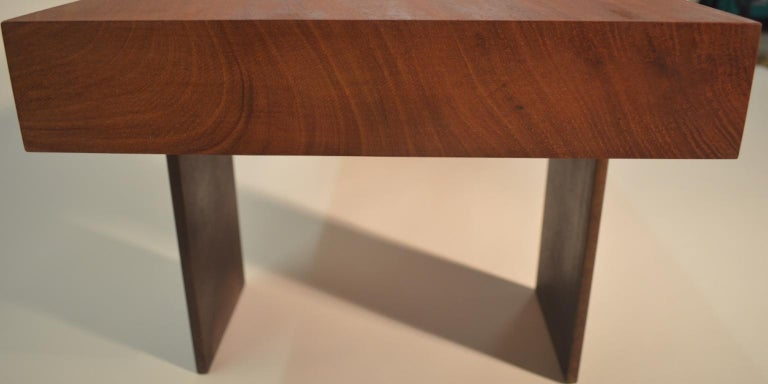 Contemporary Minimalist Wood and Steel Bench by Scott Gordon In New Condition For Sale In Sharon, VT