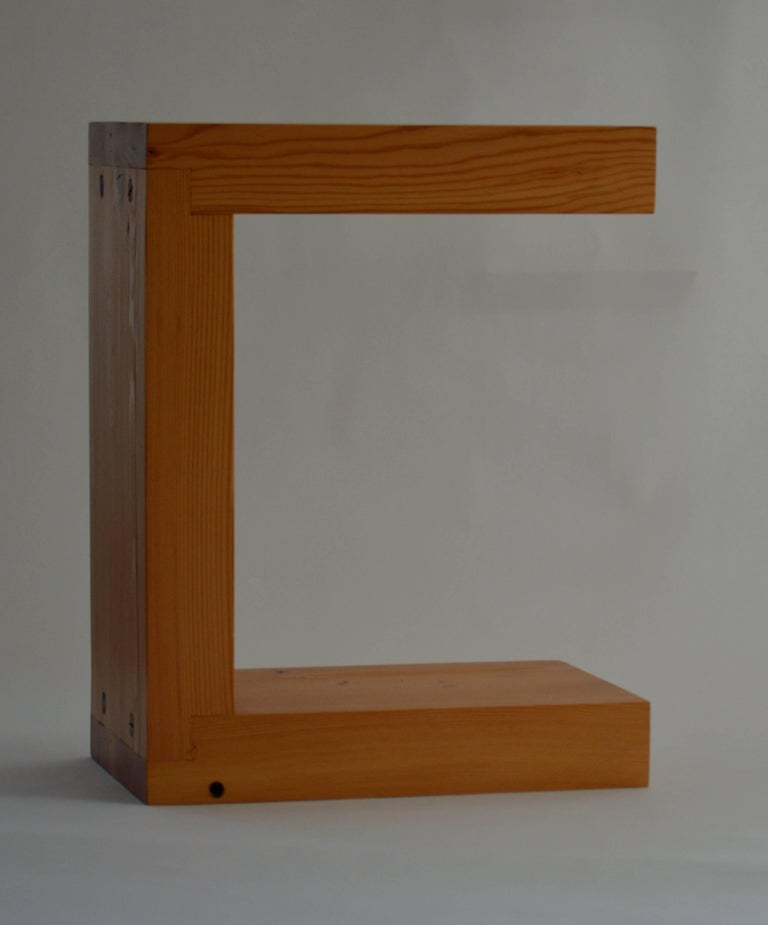 The fir end table, an original design offered exclusively by Vermontica, is a contemporary Minimalist seat or side table designed and produced in Vermont by Scott Gordon. Made from 3
