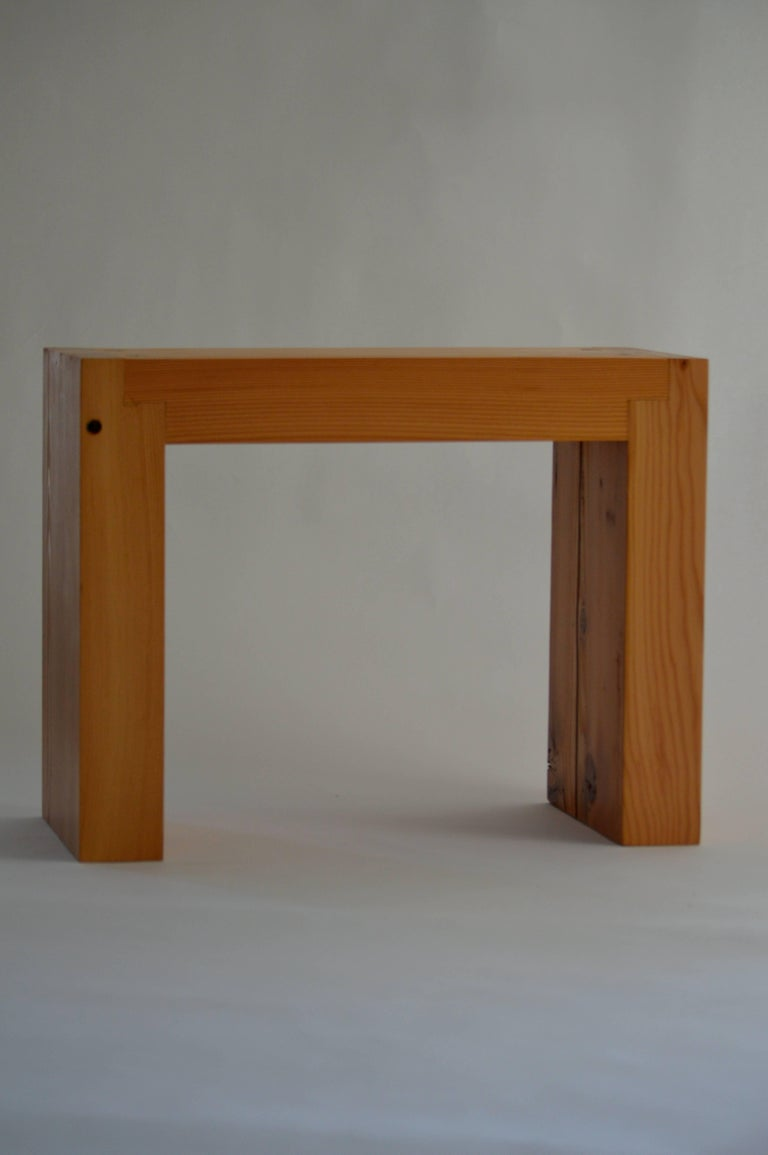 Varnished Contemporary Minimalist Wood Seat or Side Table by Scott Gordon, In Stock For Sale