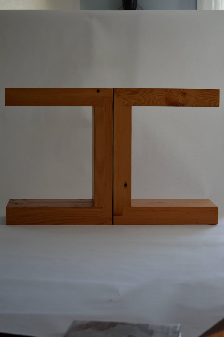 Contemporary Minimalist Wood Seat or Side Table by Scott Gordon, In Stock In Good Condition For Sale In Sharon, VT