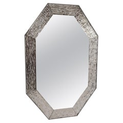 Contemporary Mirror, in Murano Glass Silvering Frame, Handcrafted, Made in Italy