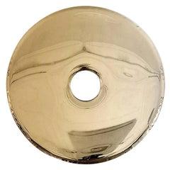 Contemporary Mirror 'Rondo 120', Flamed Gold, by Zieta