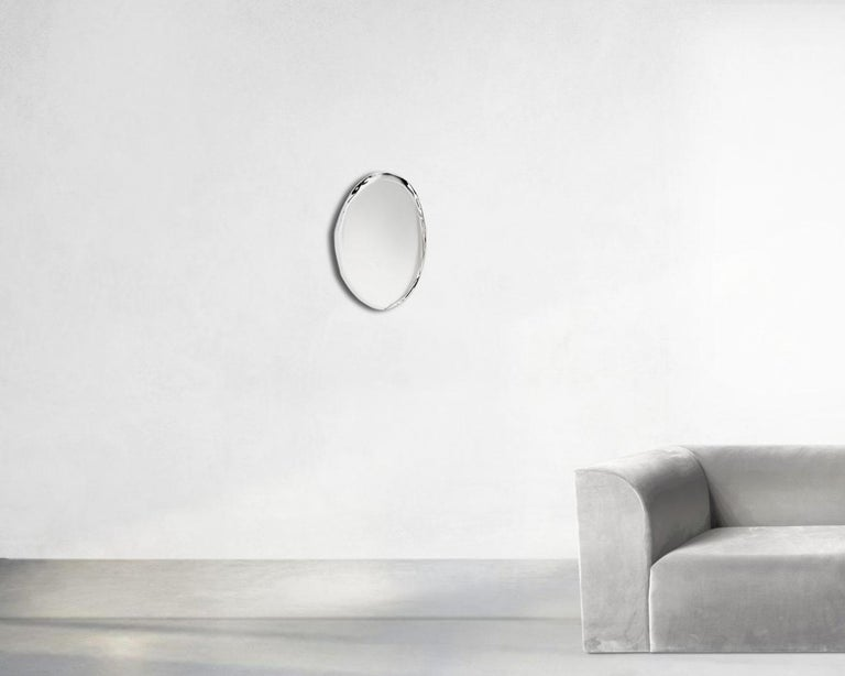 Minimalist Contemporary Mirror 'Tafla O5' in Stainless Steel by Zieta Prozessdesign For Sale