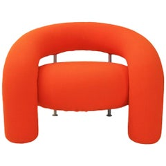 Contemporary Mod Tube Armchair Designed by Anna and Carlo Bartoli